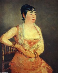 Edouard Manet - Jeanne Martin in pink dress