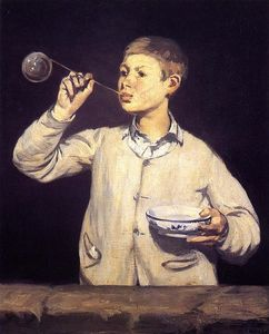 Edouard Manet - Boy Blowing Bubbles