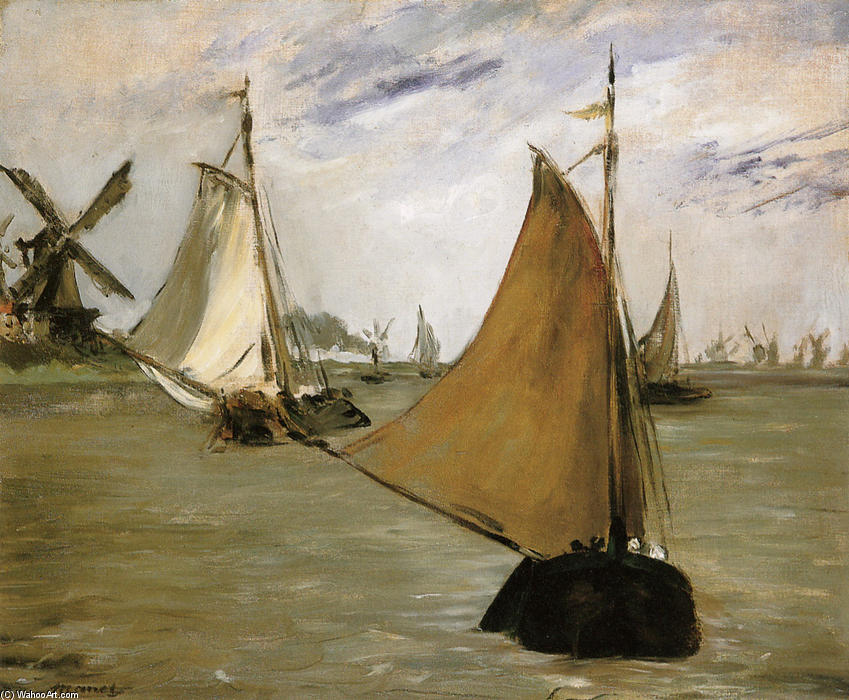 View of Holland, Oil On Canvas by Edouard Manet (1832-1883, France)