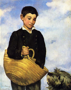 Edouard Manet - A boy with a dog