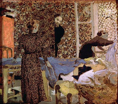 Interior of the work-table, 1893 by Jean Edouard Vuillard (1868-1940, France)