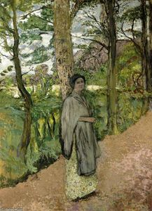 Jean Edouard Vuillard - Woman in Grey in a Lane