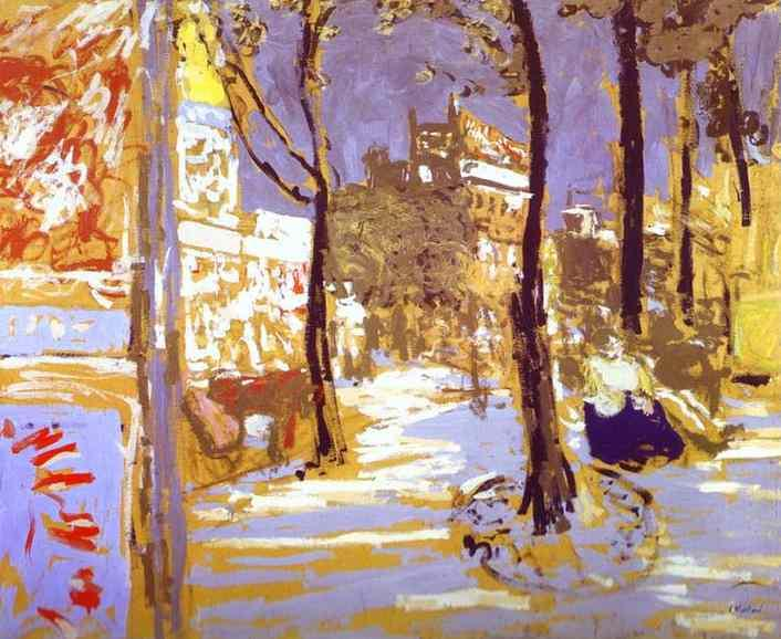 Boulevard of Battignolles, 1910 by Jean Edouard Vuillard (1868-1940, France)
