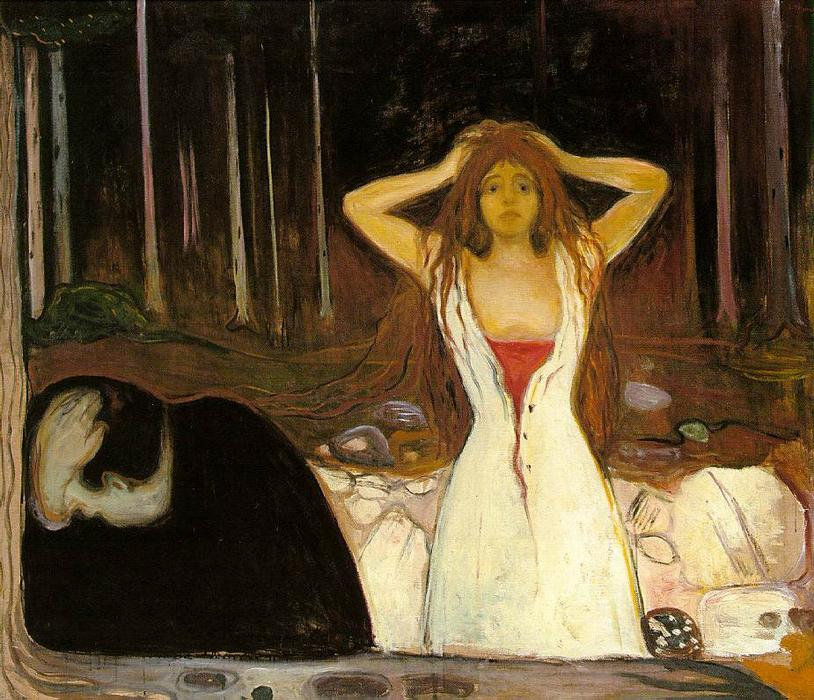 Ashes, Oil On Canvas by Edvard Munch (1863-1944, Sweden)