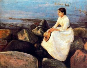 Edvard Munch - Summer Night (Inger on the Shore)