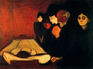 Edvard Munch - By the Deathbed (Fever)