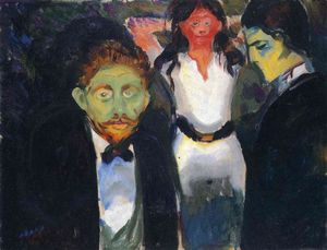 Edvard Munch - Jealousy. From the series The Green Room