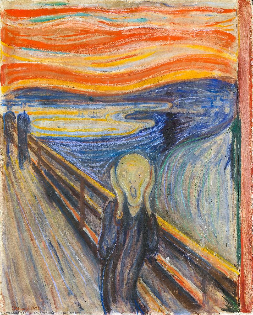 The Scream, 1893 by Edvard Munch (1863-1944, Sweden) | Famous Paintings Reproductions | WahooArt.com
