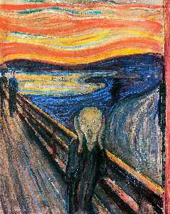 The Scream, Oil by Edvard Munch  (order Fine Art painting copy Edvard Munch)