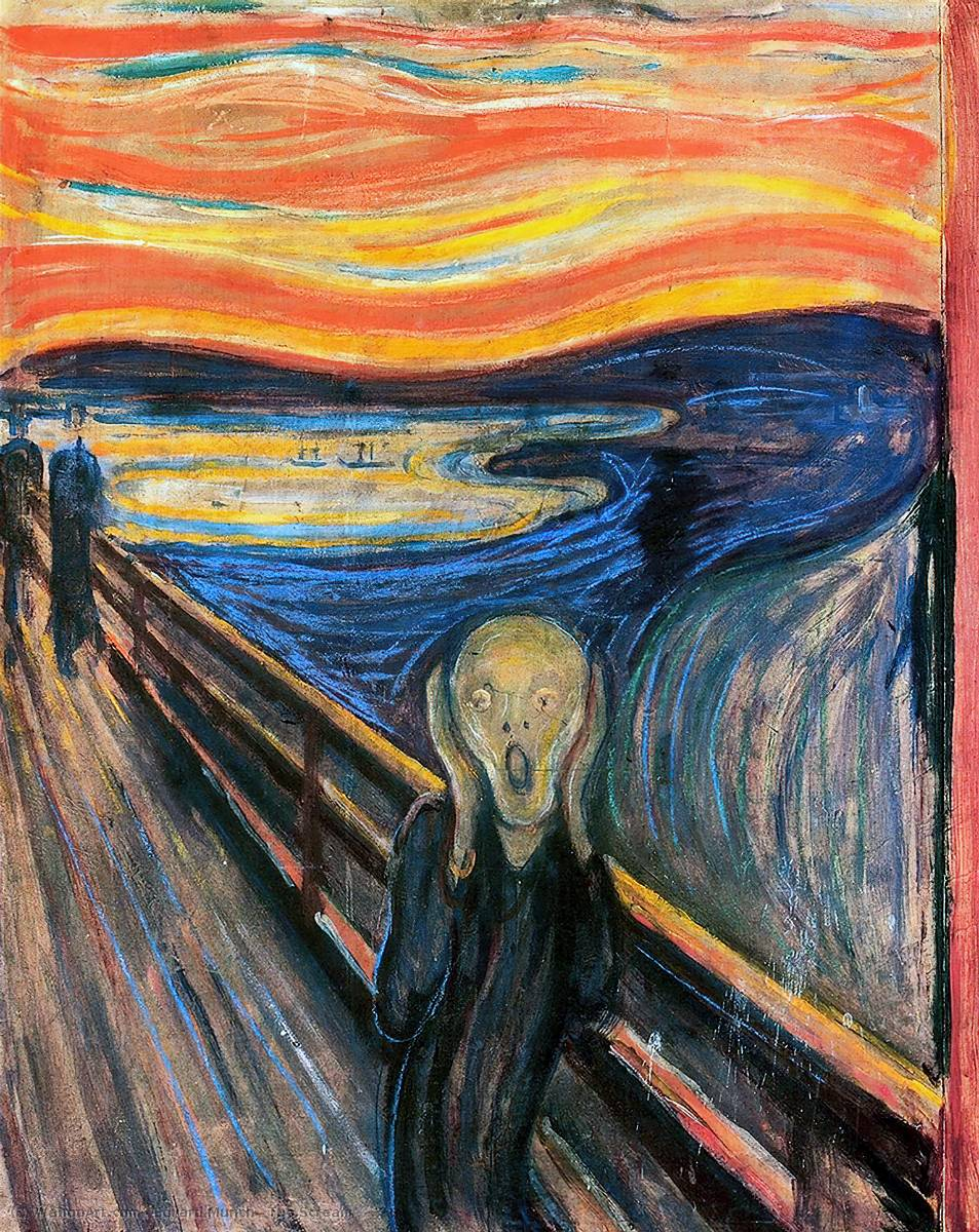 The Scream, 1893 by Edvard Munch (1863-1944, Sweden) | Museum Quality Reproductions | WahooArt.com