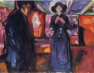 Edvard Munch - Man and Woman II