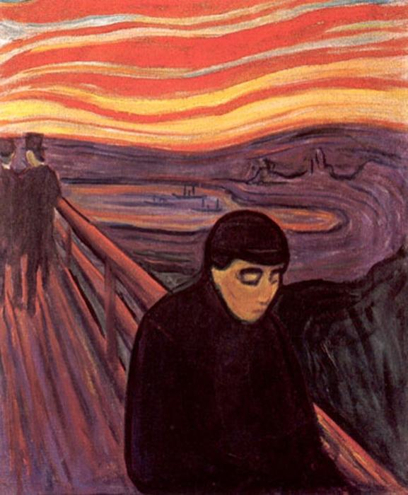 Despair, Oil On Canvas by Edvard Munch (1863-1944, Sweden)