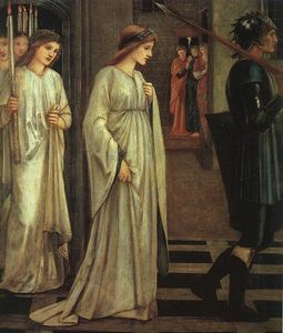 Edward Coley Burne-Jones - The Princess Sabra Led to the Dragon Painting