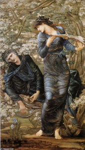 Edward Coley Burne-Jones - The Beguiling of Merlin (Merlin and Vivien)