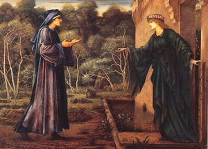 Edward Coley Burne-Jones - The Pilgrim at the Gate of Idleness
