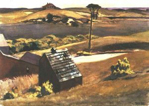 Edward Hopper - Burly Cobb Hen Coop and Barn