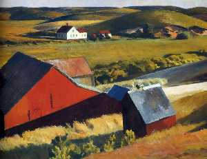 Edward Hopper - Cobbs Barns and Distant Houses