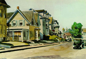 Edward Hopper - Sun on Prospect Street (Gloucester, Massachusetts)