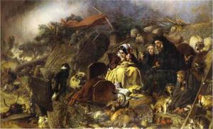 Edwin Henry Landseer - Flood in the Highlands