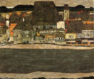 Egon Schiele - Houses by the River (The Old City)