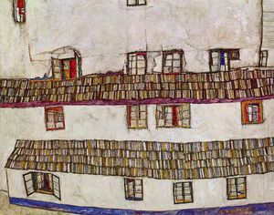 Egon Schiele - Windows (Facade of a House)