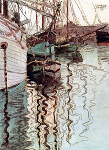 Egon Schiele - Harbor of Trieste