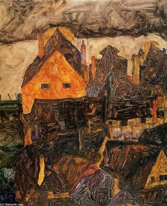 Egon Schiele - Krumau on the Molde