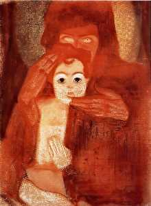 Egon Schiele - Mother and Child (Madonna)