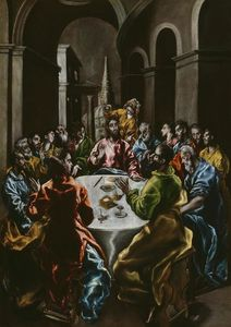 El Greco (Doménikos Theotokopoulos) - Feast in the House of Simon