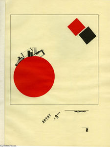 El Lissitzky - Flying to earth from a distance