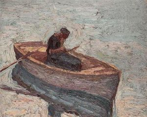 Emmanuel Zairis - Figure in a rowing boat