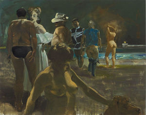 Eric Fischl - Truman Capote in Hollywod
