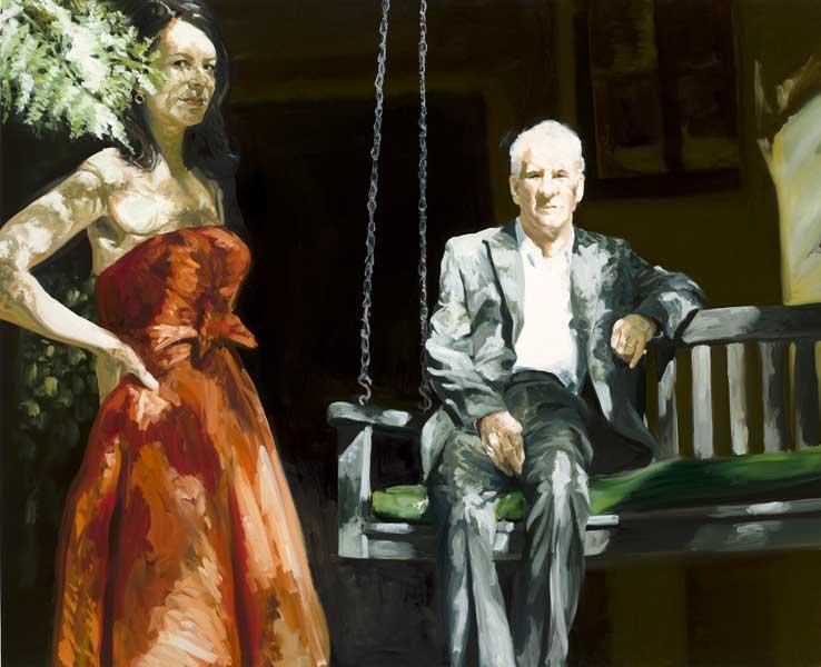 Order Reproductions | Portrait of a Couple Steve and Anne in LA, 2008 by Eric Fischl | WahooArt.com