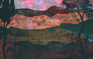 Ernst Fuchs - SOUTHERN FRENCH LANDSCAPE