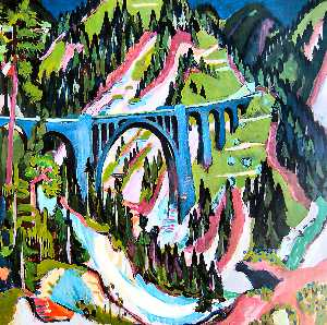 Ernst Ludwig Kirchner - Bridge in Wiesen