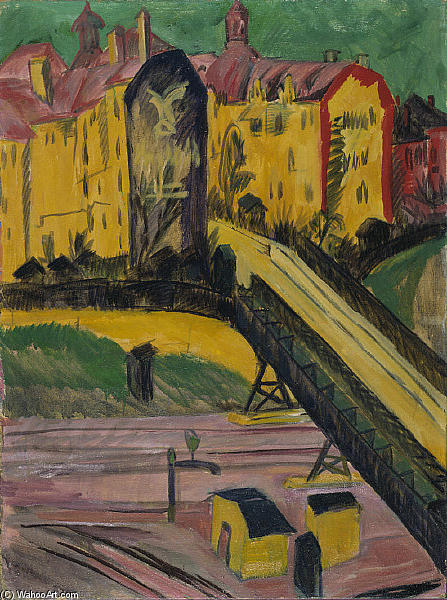 View from the Window, 1914 by Ernst Ludwig Kirchner (1880-1938, Germany) | WahooArt.com