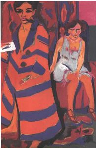 Ernst Ludwig Kirchner - Self-Portrait with a Model