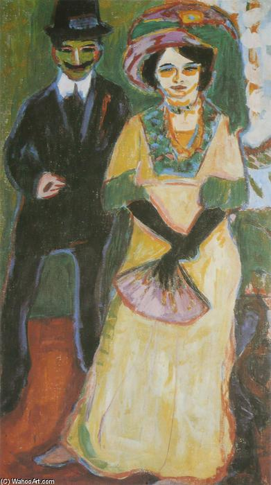 Dodo and Her Son, 1908 by Ernst Ludwig Kirchner (1880-1938, Germany) | WahooArt.com