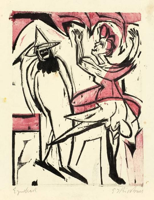 Dance, 1926 by Ernst Ludwig Kirchner (1880-1938, Germany)