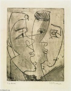 Ernst Ludwig Kirchner - Three Faces