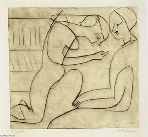 Ernst Ludwig Kirchner - Lovers in the Bibliothek