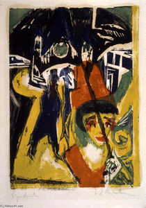 Ernst Ludwig Kirchner - Cocotte on the Road