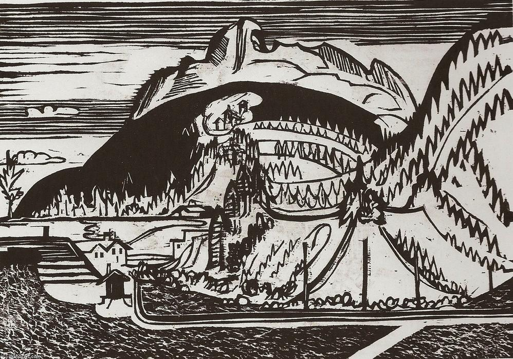 Clavadel Mountain Seen from Frauenkirch, 1933 by Ernst Ludwig Kirchner (1880-1938, Germany) | WahooArt.com