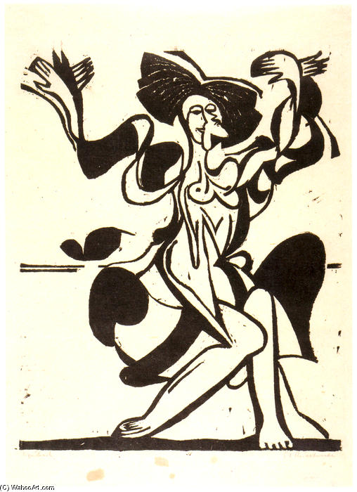Dancing Mary Wigman, 1933 by Ernst Ludwig Kirchner (1880-1938, Germany)