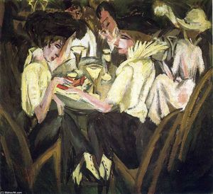 Ernst Ludwig Kirchner - The Garden Cafe