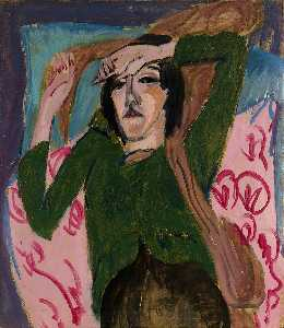 Ernst Ludwig Kirchner - Woman in a Green Blouse