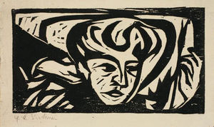 Ernst Ludwig Kirchner - Dodo Head on Pillow