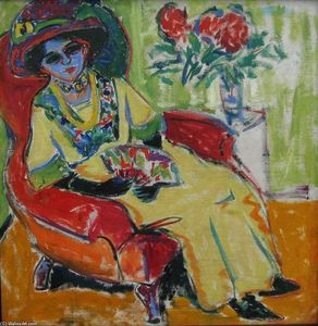 Ernst Ludwig Kirchner - Seated Lady (Dodo)