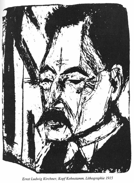 Dr. O. Kohnstamm, Lithography by Ernst Ludwig Kirchner (1880-1938, Germany)