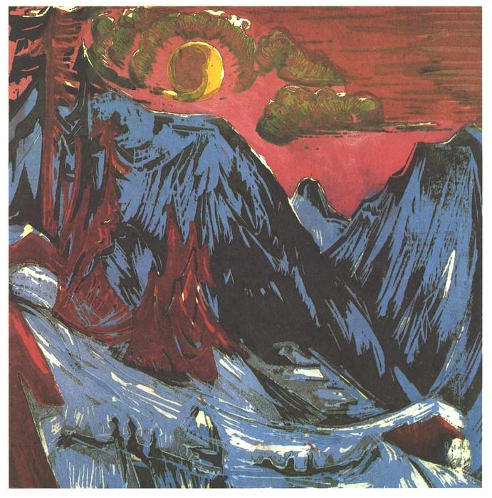 Mountains in Winter, 1919 by Ernst Ludwig Kirchner (1880-1938, Germany)